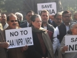 Sonia Gandhi, Rahul Gandhi, other Congress leaders protest against CAA-NRC-NPR in Parliament
