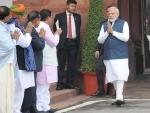 PM Modi welcomed in Parliament