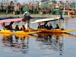 Tourists enjoy Shikara ride in Srinagar