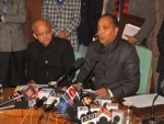Himachal CM Jai Ram Thakur addresses press conference