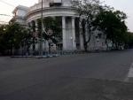 Deserted road in Kolkata during COVID-19 outbreak