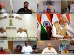PM Modi talks to Gaytri Parivar Chief Pranav Pandya via vedio conferencing