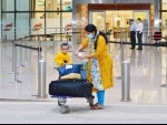 Repatriate migrants leave Kannur International Airport after coming from Kuwait