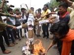 Sushant Singh Rajput's fans burn effigy of film industry in Patna