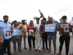 Demonstrators reject Chinese products during protest in Patna
