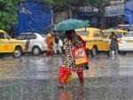 Rain-drenched Esplanade area in Kolkata
