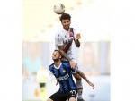 Bolognas Roberto Soriano vies with FC Inters Marcelo Brozovic