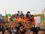West Bengal: Amit Shah participates in Bolpur roadshow