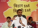 Chirag Paswan holds press conference in Patna