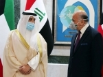 Iraqi Foreign Minister Fuad Mohammed Hussein meets Kuwaiti counterpart Sheikh Ahmad Nasser Al-Mohammad Al-Sabah