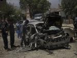 Site of car bomb blast in Nangarhar province of Afghanistan