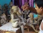 Artisans make Ganesha idol ahead of Ganesh Chaturthi