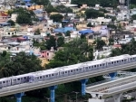 A view of Kolkata's East-West Metro after resuming operations on Monday