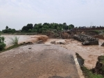 Bridge washed away due to rains in Jammu and Kashmir