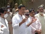 Congress spokesperson Randeep Singh Surjewala, others arrive to address press conference