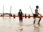 Holy bath in Prayagraj