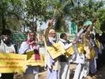 Jharkhand Andolankari Sangharsh Morcha protests in Ranchi