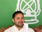 Tejashwi Yadav attends grand alliance meeting