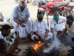 Shravan: Pilgrims performing Hawan after rudrabhishek to Lord Shiva