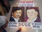 A rangoli for Irrfan Khan and Rishi Kapoor