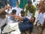 Police lathicharge BJP workers in Kerala