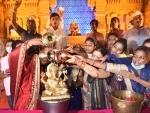 Lord Ganesha immersion: Maharashtrian performing Jal Abhishek