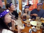 Japan: Customers wear face shields while visiting restaurant