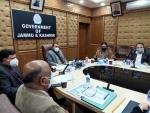 Nitishwar Kumar chairs a meeting at Civil Secretariat in Jammu