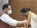 Tamil politician Khushbu Sundar joins BJP after quitting Congress