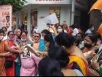 Sena activists protest against Kangna Ranaut at Mumbai's Worli over controversial speech