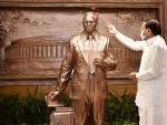 Venkaiah Naidu unveils statue of Dr B R Ambedkar