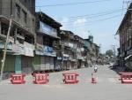 Strict lockdown in Srinagar