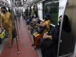 passengers travelling in Kolkata metro after service started on Monday