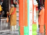 Prime Minister Narendra Modi offering prayers at Hanuman Garhi temple