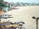 Ghats of Varanasi partially submerged after water level in Ganges rose due to rains