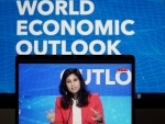 IMF chief chief economist Gita Gopinath addresses press in the US