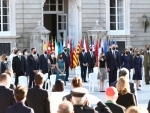 Madrid: Tribues paid to Covid-19 victims