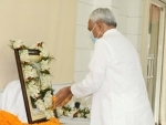 Nitish Kumar pays tribute to Ram Manohar Lohia