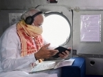 PM Modi surveys Cyclone Amphan impact with West Bengal CM Mamata Banerjee