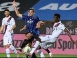 Serie A football match in Bergamo