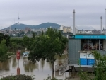 Flooded Banpo Hangang Park in Seoul
