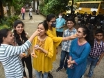 Class 12th students of CBSE board celebrating success