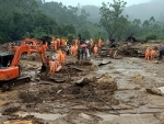 NDRF conducting search and rescue operation in landslide-hit Idukki District of Kerala