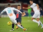 A view of match between Paris Saint Germain and Olympique de Marseille at Parc des Princes in Paris, France
