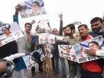 BJP activists burn effigy of Mamata Banerjee in Patna