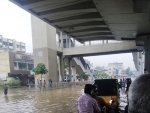 Water logging due to rain in Hyderabad