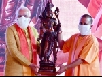Ayodhya: Yogi Adityanth presents Lord Rama's idol to PM Modi
