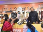 Sushil Modi at a function in Patna