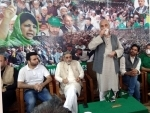 Peoples Democratic Party (PDP) leaders during a meeting in Srinagar