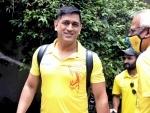 CSK skipper Dhoni leaves airport from MA Chidambaram stadium